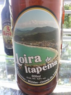 Cerveja Loira de Itapema, estilo German Weizen, produzida por Choperia 3 Mestres, Brasil. 4.6% ABV de álcool.