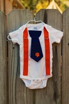 Auburn Tigers Baby Boy Tie and Suspender by DandelionDaffodil, $26.00