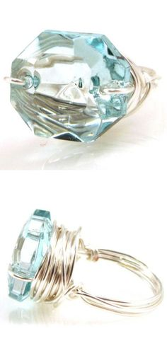 Zsa Zsa Icy Blue Bling Ring ♡