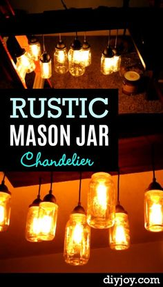 Rustic Mason Jar Chandelier - Cool DIY Lighting Projects with Mason Jars - Creative Mason Jar Lights and Home Decor Ideas