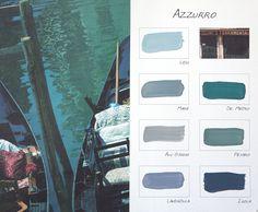 Carte Colori kleurenkaart Azzurro