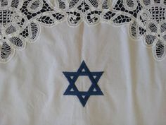 Custom Handmade Jewish Wedding Canopy Chuppah Chuppa w/ Personalized Embroidery. Star of David Magen David. One of a Kind. by 2Rokmot