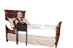 """This version, in addition to being able to stay in place by fitting between mattress and box spring, has pockets to keep hearing aids, dentures, glasses in, so these items don't get lost in the sheets.  We """"lowered"""" the bed by putting the box spring right on the floor (carpet)-added benefit, nothing winds up lost under the bed."""