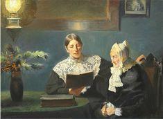 Michael Peter Ancher, Interiør med Anna Ancher der læser højt for fru Brøndum