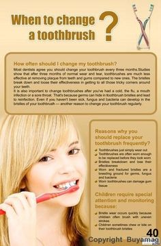When to change a toothbrush? www.caselledental.com