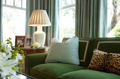 an example of the blue and olive green being proposed for the living room