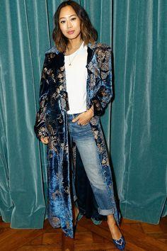This New Italian Shoe Brand Is Going to Be Everywhere in 2019 : Paris Texas shoe brand: Aimee Song wearing Paris Texas boots Kimono Fashion, Fashion Pants, Boho Fashion, Winter Fashion, Womens Fashion, Fashion Trends, Bohemian Mode, Winter Stil, Italian Shoes