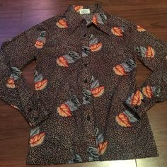 Nature Leaf Button Down Shirt True Vintage Nature, Leaf Design Button Down Shirt - Size Small. Excellent condition! (Not from listed brand.) Anthropologie Tops Blouses