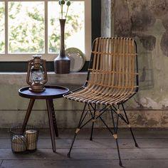 chaise lounge mtal et rotin kubu naturel dutch bone chez drawerfr - Chaise Eleven Patchwork Colors
