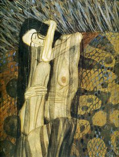 from the Beethoven frieze by Gustav Klimt, 1902