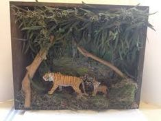animal habitat diorama instructions