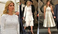 Melania and Ivanka Trump wear white at Holocaust memorial | Daily Mail Online