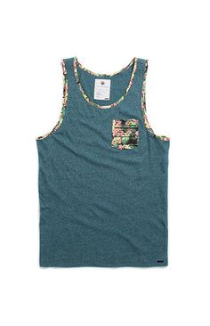 12979e2a249c9a On The Byas Pike Printed Pocket Tank Top at PacSun.com