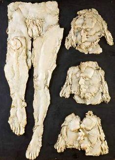alina szapocznikow, zielnik XIII, 1972, poliester, drewno polochromowane