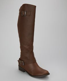 Take a look at this Brown Plaza Boot by Coconuts on #zulily today!