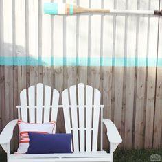Resort wear 2015! Porter's Paints Palm Beach White and Bora Bora Aqua Satin Enamel evoking seaside serenity