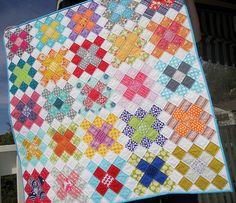 Pretty Granny Squares Quilt