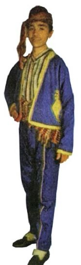 The traditional festive costume from the Zonguldak province.  Mid 20th century.  These is a recent workshop-made copy, as worn by folk dance groups.
