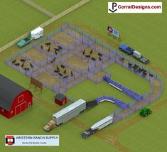Free rodeo and corral system design and equipment locator Ranch Farm, Cattle Ranch, Ranch Life, Show Cattle Barn, Cattle Trailers, Cattle Corrals, Show Cows, Barn Layout, Raising Farm Animals
