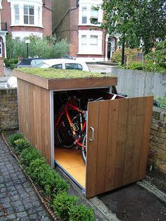 Bike Storage. We might need a couple of these but what a clever idea!