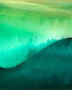 Zen Watercolor Painting Canvas Print Green by TheModernArtShop