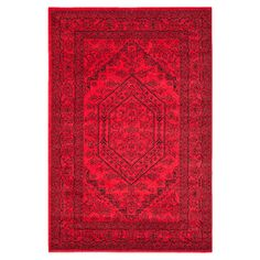 Alhambra Rug in Red at Joss: Loomed rug with a classic Persian design.  Product: RugConstruction Material: 100% PolypropyleneColo...