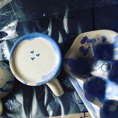 Making some #blueandwhite #ceramics today for @archiplants