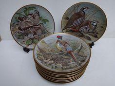 Catawiki online auction house: Franklin Mint Gamebirds of the World By Basil Ede - een set van 12 porseleinen borden.
