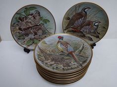 Catawiki online auction house: Franklin Mint Gamebirds of the World By Basil Ede - een set van 12 porseleinen borden.