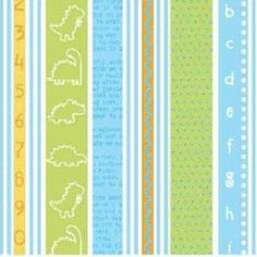 Stripe in Aqua - Babysaurus - Little Yellow Bicycle