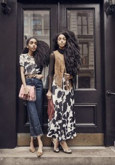 Channel the Urban Bush Babes (twins) with their personal style must-haves and new arrivals Black Girls Rock, Black Girl Magic, Gypsy Style, Style Me, Quann Sisters, Modest Fashion, Girl Fashion, Style Fashion, Street Chic