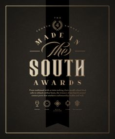 Made In The South Awards by J Fletcher Design Following
