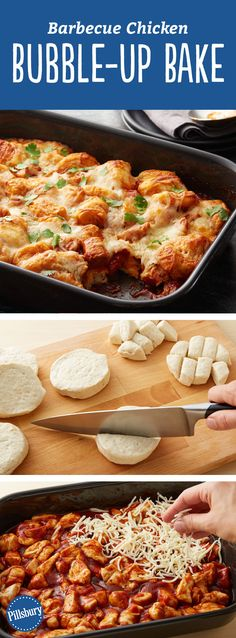 With only five ingredients (biscuits, chicken, BBQ sauce, , mozzarella and cilantro), this incredible biscuit bake makes for the easiest dinner out there. It's definitely a crowd-pleaser, with 100+ rave reviews!