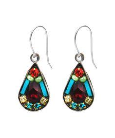 Multi-Color Love Drop Earrings 7277 - Firefly Jewelry $35.95