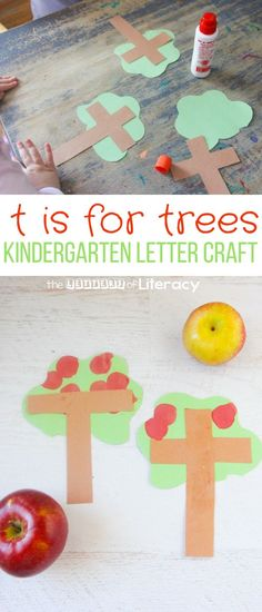 Letter T Craft – T is for Tree Kindergarten Letter Craft My kids love any excuse to break out bingo dabbers, so this letter T craft is T is for Tree! It can work well with an apple study, or for fine motor skills. Letter T Activities, Alphabet Letter Crafts, Abc Crafts, Preschool Letters, Daycare Crafts, Tree Crafts, Preschool Activities, Craft Letters, Preschool Phonics