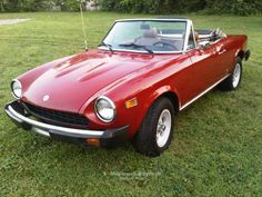 1976 Fiat 124 Spider Convertible - loved this car. Mine was candy apple red.