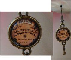 Gold Ouija Board Charm Drop/Dangle Earrings Handmade Jewelry Hook Accessories http://www.ebay.com/itm/-/152341097861?