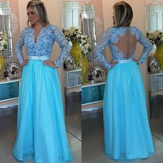 Floor-length Prom Dresses, Long Sleeve Lace Prom Dress with Belt, Pearl Beaded A-line Prom Dresses,Long Prom Dresses,Floor Length Prom Gown