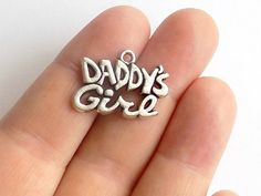 Daddy's Girl Charms  S0087 by StashofCharms on Etsy