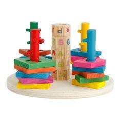 Wooden Building Block Multicolor