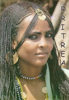 Traditional Eritrean Hairstyles | Tigre tribe, fegiret hairstyle