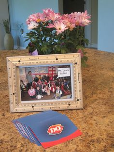 Designed To Dwell: Teacher Gift Idea - frame with rulers & class picture