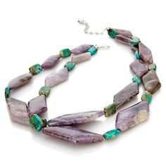 Jay King Russian Wisteria Stone Beaded Necklace