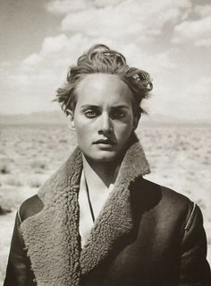 "Amber Valletta by Peter Lindbergh ""Azzedine Arizona"" Harper's Bazaar, January 1995"