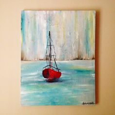I think we need one of these in our library  | Hannah Renae Art | Custom Boat Painting. $400.00, via Etsy.