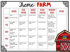 Plemons' Kindergarten Tons of farm themed ideas perfect for Tot School, Preschool, or the kindergarten classroom.Tons of farm themed ideas perfect for Tot School, Preschool, or the kindergarten classroom. Daycare Curriculum, Preschool Classroom, Preschool Learning, In Kindergarten, Homeschooling, Preschool Farm Theme, Farm Theme Classroom, Childcare, Farm Animals Preschool