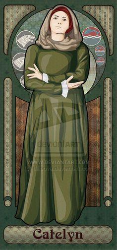 Catelyn Tully/ Stark by tfilipova.deviantart.com on @deviantART