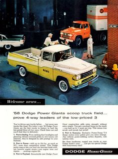 Dodge Sweptline Pickup & Tractor/Trailer 1958.