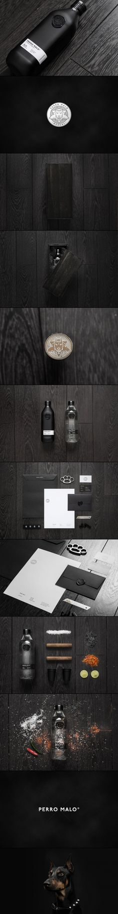 Perro Malo study in black #identity #packaging #branding PD