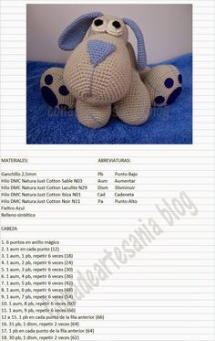 "con A de artesanía: Amigurumi perrito Leopoldo ""Jednostki z: Leopoldo szczeniąt amigurumi"", ""Maybe translate pattern?"", ""Ideas que mejoran tu vida"" Dog Pattern, Crochet Doll Pattern, Crochet Patterns Amigurumi, Amigurumi Doll, Crochet Dolls, Pattern Ideas, Chat Crochet, Love Crochet, Easy Crochet Animals"